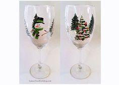 Winter Wonderland Christmas Holiday Hand by LemonTreeWorkshop