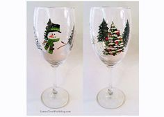 Winter Wonderland Christmas Holiday Hand by LemonTreeWorkshop