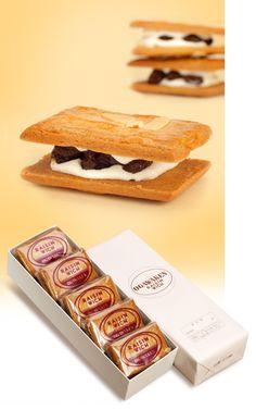 洋酒に程よく漬け込まれたレーズンと、生クリームに近い特製クリームがクッキーにサンドされたお菓子です。