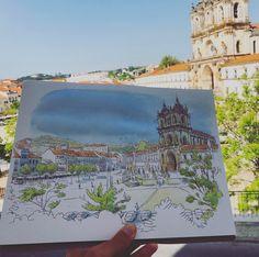 Here is the icon of the city - Mosteiro de Alcobaça