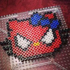 Spiderman Hello Kitty perler beads by pixelatedsugar