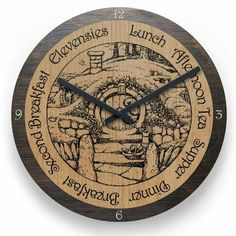 Hobbit Clock!!! I need this!