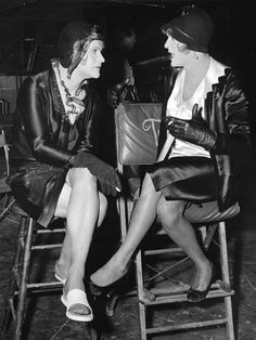 "Tony Curtis and Jack Lemmon on the set of ""Some Like It Hot"" (1959)"