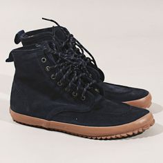 YMC Walking Boot in Navy, Glass Boutique