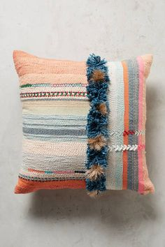 Anthropologie Tufted Yoursa Pillow #anthropologie #colorful #boho