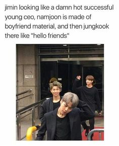 Jimin: Yes. That's right. I'm hot. Namjoon: Don't look at me with anything else but star eyes. Jungkook: Keep looking at me. That's right. Hello chingus. I am Jeon Jungkook. Yes, I am maknae. More specifically, Golden Maknae.