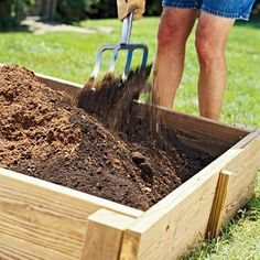How to make a raised bed garden.