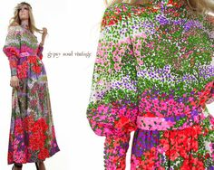 Monet Garden vintage 70s maxi dress by GypsySoulVintageShop/A Derby Ball shout out!