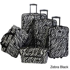 This lovely animal print luggage set has five pieces for every packing need. Top and side handles provide easy mobility, while inline skate wheels offer a quieter and smoother ride.