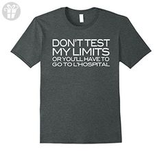 Mens Don't Test My Limits Or L'Hospital Funny Math Joke Pun Shirt XL Dark Heather - Funny shirts (*Amazon Partner-Link)