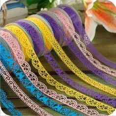 Homgaty 5pcs Roll Decorative Sticky Adhesive Lace Cotton Washi Tape for DIY Craft Homgaty http://www.amazon.co.uk/dp/B00JX7R72A/ref=cm_sw_r_pi_dp_fOH7ub0R0CQ4C