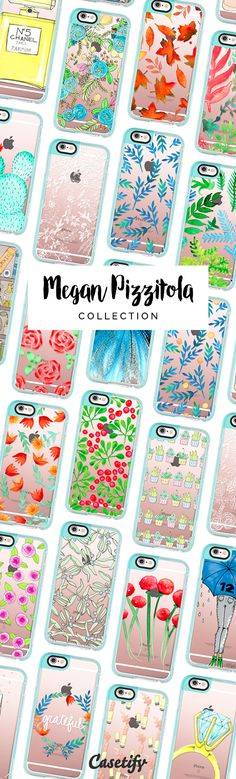 All time favourite iPhone 6 protective phone case designs by Megan Pizzitola  | Click through to see more iphone phone case ideas >>> https://www.casetify.com/pizzazzdesign/collection #floral | @casetify