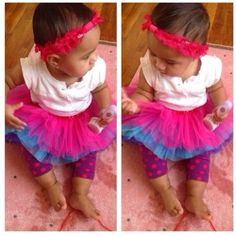 Baby A in her colorful tutu and lace red headband! Freedom Intrigued