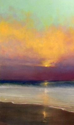"Jessica Anne Thomas. Original oil painting on canvas ""Point Pispo Alone"" 24x40"