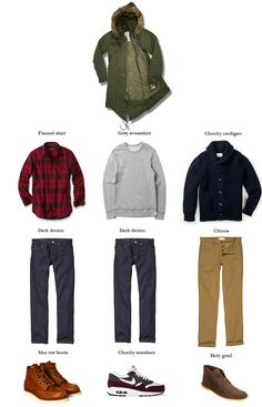 Outfit ideas for three winter coats. - Imgur