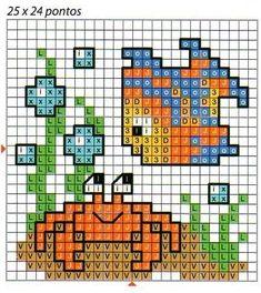 Tiny Cross Stitch, Cross Stitch Borders, Cross Stitch Animals, Modern Cross Stitch Patterns, Cross Stitch Charts, Cross Stitch Designs, Cross Stitching, Cross Stitch Embroidery, Broderie Simple