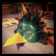 DIY bird mask. Riley is so excited! Bird Masks, Up Halloween, Carnival, Diy, Painting, Decor, Decoration, Bricolage, Carnavals