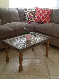 Handmade Mosaic coffee table by ConoSurBoutique on Etsy, $250.00- I ADORE this table!