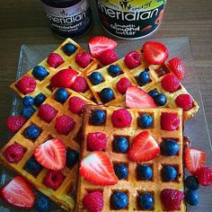 """Breakfast of Champions! The most important meal of the day...  Breakfast of Champions! The most important meal of the day right! Wonderfully prepped by @ro__bas__  """" Morning  Its weekend so high protein waffles for breakfast is a must  I have been experimenting with them to make them as low carb as possible and I done it  I used only 5 ingredients to make them took some time to get it right but Im happy how they came out   INGREDIENTS: 200g of fat free yogurt I used Skyr high protein one…"""
