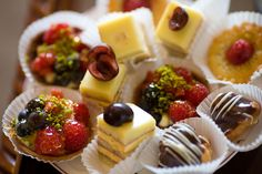Wedding pastries! #weddingfood #canapes #tarts #cakes