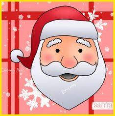 Santa face drawing tutorial