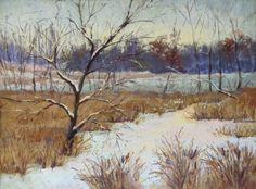 "December Calm by Lisa Stauffer Pastel ~ 9"" x 12"""