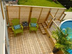 Privacy Deck On Pinterest Deck Privacy Screens Hot Tub