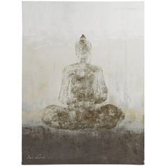 Gray Buddha Wall Art is part of Gray Buddha Wall Art Pier - Cool off any wall and find inner peace while looking into our beautiful Buddha painting Calming neutral shades and a meditative pose create its serene effect Buddha Wall Art, Buddha Decor, Buddha Painting, Grey Home Decor, Asian Home Decor, Home Wall Decor, Cheap Wall Art, Unique Wall Art, Buddha Kunst