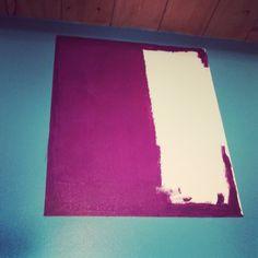C comme Ça a bien avancé! #365lettres #jour95 #peinturepleinlesdoigts #chezchloe #pruneturquoise #jevoisdesrectanglespartout