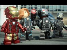 YouTube Lego Marvel's Avengers, Lego Marvel Super Heroes, Legos, Team Captain America, Bipper, Iron Man, Deadpool, Nerdy, Youtube