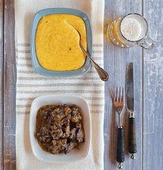 Οι 20 πιο λαχταριστές συνταγές με μοσχαράκι - www.olivemagazine.gr Beef Stew With Beer, Grill Pan, Mashed Potatoes, Slow Cooker, Main Dishes, Grilling, Pork, Meat, Cooking