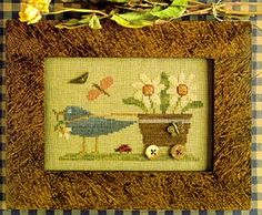 Delivering Posies by Homespun Elegance chart $7.00 on ABC Stitch Therapy at http://www.abcstitch.com/designers_php/designers.php?page=5=Homespun+Elegance=