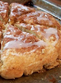 Glazed Cinnamon Scones -- these are the BEST! If you like scones, this is a MUST-TRY recipe!