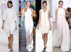 """""""White on White"""" se ha convertido en una tendencia de moda para este verano 2014. En NYFW se destacó el blanco en distintas pasarelas como las de 3.1 Phillip Lim, Thakoon, Derek Lam, Carolina Herrera, Ralph Rucci, Victoria Beckham y más."""