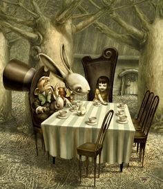 A mad tea-party. Go ask Alice.