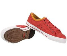 Stylish, Edgy & A Cool Street Vibe & RED....Levis's Zip Ex Low Nylon Red Sneakers
