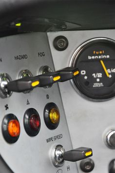 Detail from the dashboard of the Ferrari 308 GT4, 1970′s.