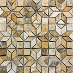 Scabos Travertine Enigma Mosaic Tile, $35.98