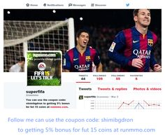to getting 5% bonus for fut 15 coins at runmmo.com