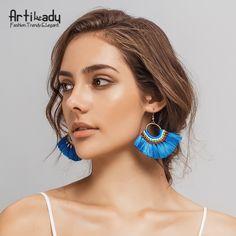 Artilady 10 видов цветов Boho кисточкой серьги ручной работы длинные серьги красочные серьги для женщин ювелирные подаркикупить в магазине ArtiLady Jewelry (Stylish Designer Brand)наAliExpress