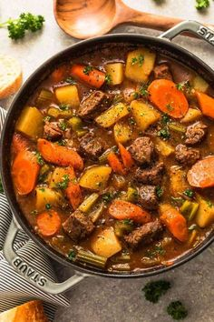 This classic homemade beef stew recipe is an easy beef stew from scratch, with tender fall apart beef and hearty vegetables. Plus recipe video. Best Beef Stew Recipe, Instant Pot Beef Stew Recipe, Easy Beef Stew, Homemade Beef Stew, Homemade Recipe, Recipe Stew, Taste Of Home Beef Stew Recipe, Recipe Recipe, Stewing Beef Recipes