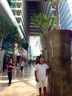 Trevor at Marina Bay Sands Hotel Lobby Singapore