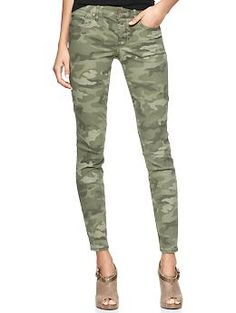 1969 printed always skinny skimmer jeans | Gap $69.95 // And lo, I suddenly wanted camo skinnies