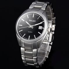 ShiLonG 8061L Water Resistant Japan Quartz Watch Date Display Fine Steel Strap for Women #>=#>=#>=#>=#> Click on the pin to check out discount price, color, size, shipping, etc. Save and like it!