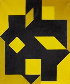"Victor VASARELY (1906-1997) Larissa, 1954-55 Oil on canvas, signed, dated, titled and ""Amigos del Arte, Montevideo"""
