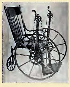 """Invalid's Tricycles"" with hand crank, Stevens Chair Co., c. 1905"