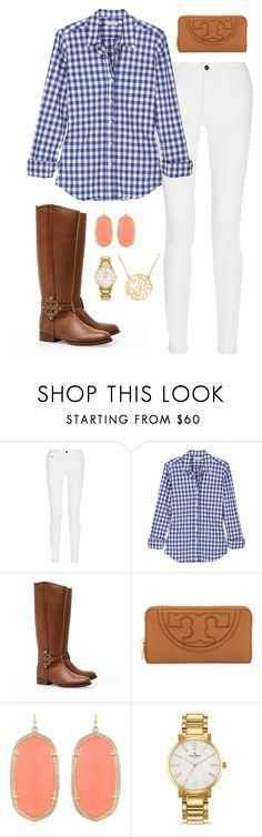 """""""Fall preppy outfit"""" by meganbriody ❤ liked on Polyvore featuring Proenza Schouler, Steven Alan, Tory Burch, Kendra Scott and Kate Spade"""
