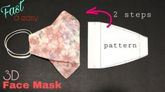 [sewing machine] How to make a face mask at home Easy Face Masks, At Home Face Mask, Homemade Face Masks, Diy Face Mask, Sewing Patterns Free, Free Sewing, Sewing Diy, Masque Facial Diy, Sewing Hacks