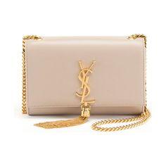 Saint Laurent Kate Monogram YSL Small Tassel Shoulder Bag with Golden Hardware. #saintlaurent #bags