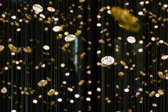 Suspended Rain baselworld frozen time by DGT architects for citizen Branding, Frozen In Time, Scenic Design, Design Furniture, Stage Design, Basel, Installation Art, Citizen, Lamp Light